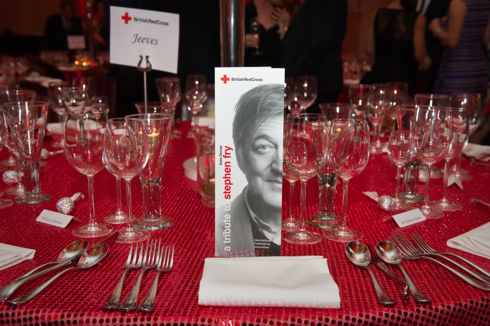 A Tribute to Stephen Fry at the Guildhall in London in aid of the British Red Cross, 29 Spetember 2011
