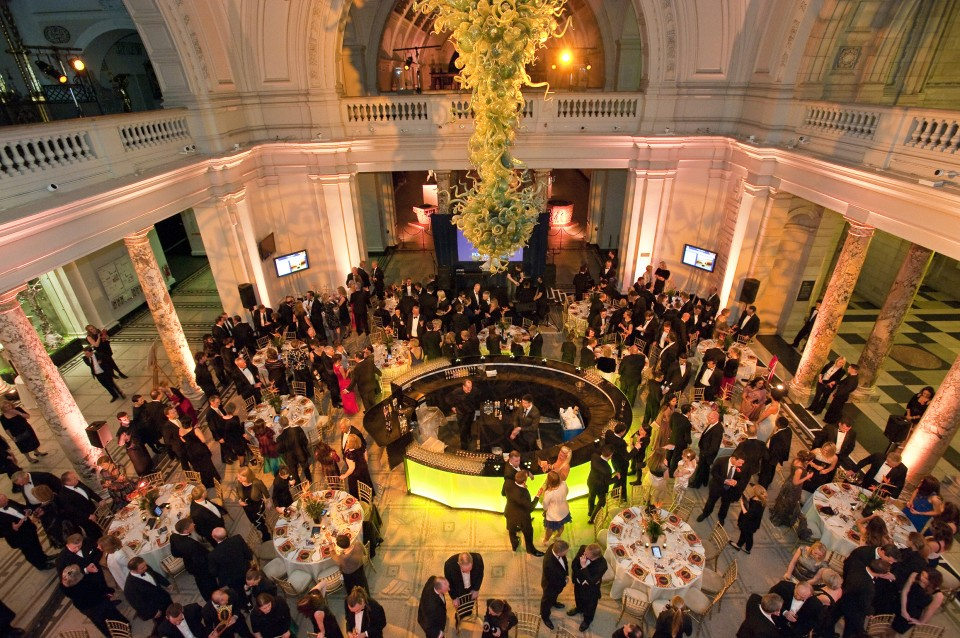 Farm Africa Food for Good Ball at the V&A in London, 27 March 2014 with Jason Atherton, Ashley Palmer-Watts and Paolo de Tarso