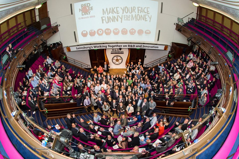 Red Nose day with the Sainsburys R&D Coference at The Royal Institution; 21 Albemarle Street; London W1S 4BS. 13 March 2015