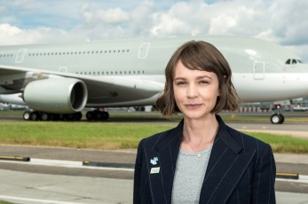 Actor Carey Mulligan meets Jeremy Hunt, Secretary of State for Health, at Heathrow Airport as she is announced the UK's Global Dementia Friends Ambassador by Alzheimer's Society and UK Government