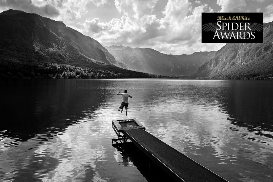 A beautiful view, a crystal lake and a trampoline - Lake Bohinj, Slovenia