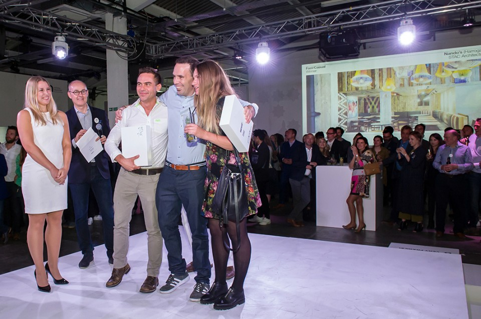 STAC Architecture at the Restaurant and Bar Design Awards 2016 held at the Old Truman Brewery. 29 September 2016
